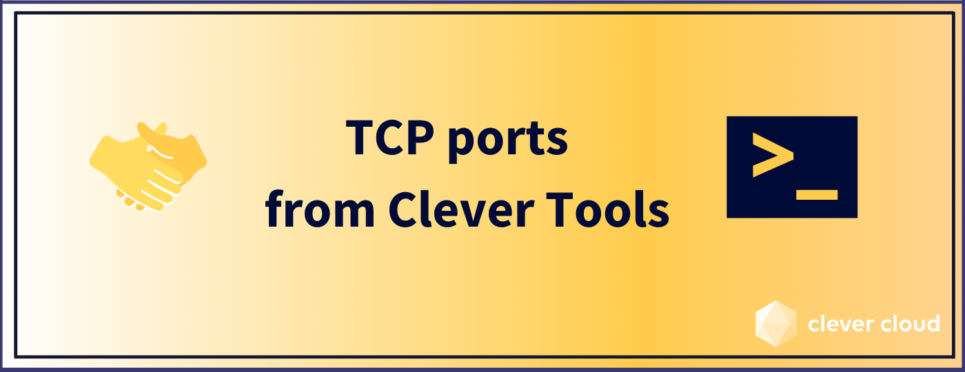 TCP ports are now configurable from Clever Tools