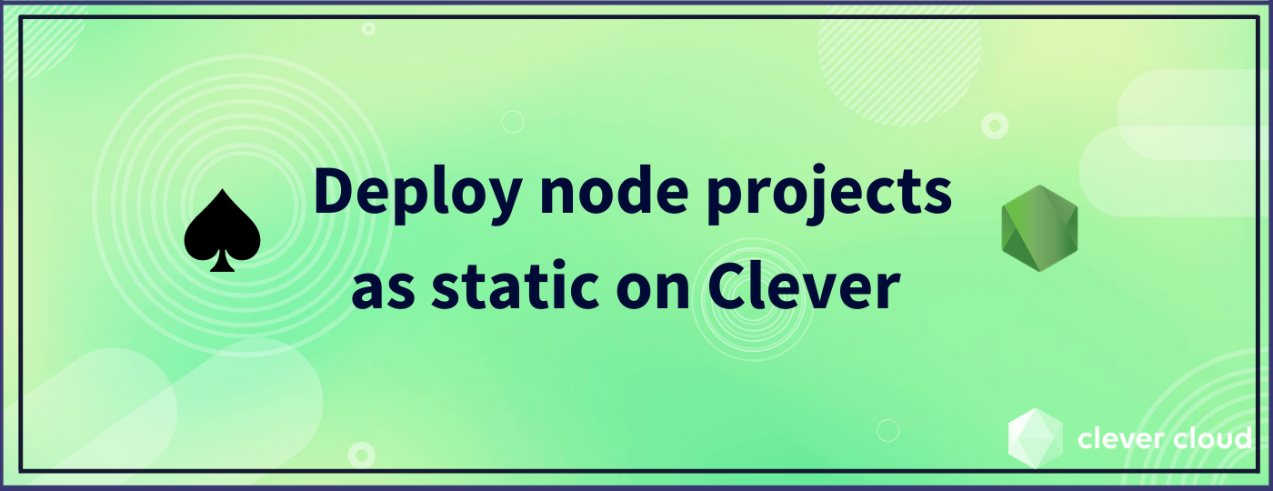 Deploy node projects as static on Clever - MDX-Deck demo